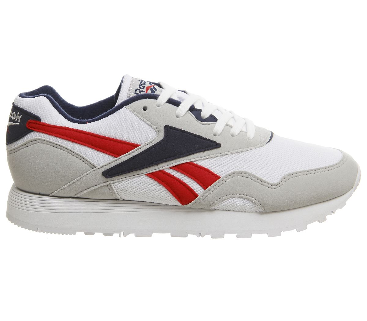 d89e8250 Details about Reebok Rapide Trainers Skull Grey Collegiate Navy White  Trainers Shoes