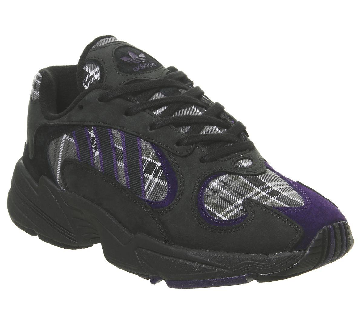 grande collezione sito affidabile carino e colorato Dettagli su Adidas da Donna Yung 1 Scarpe Sportive Core Nero Universitaria  Viola Nere S