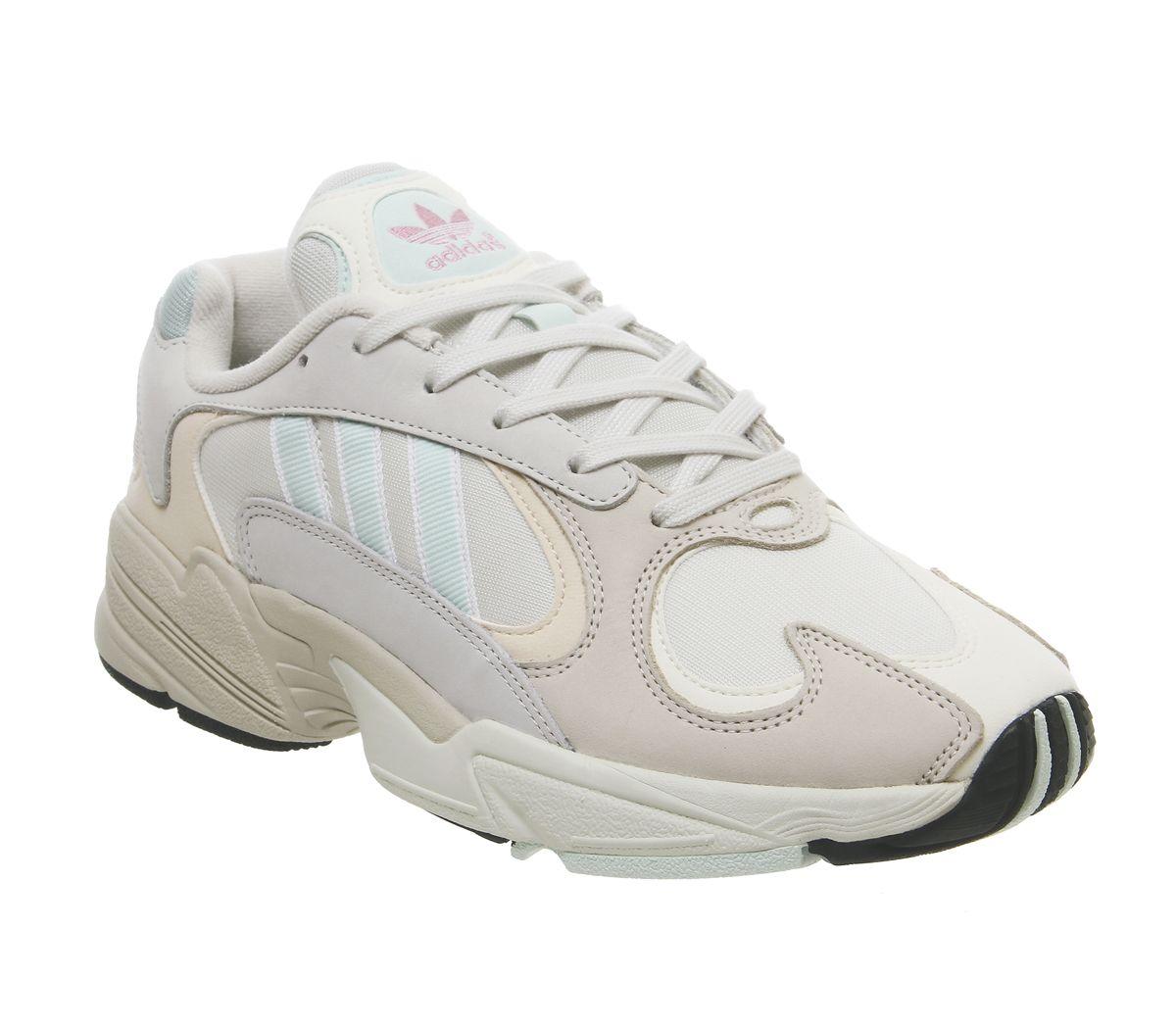 Details zu Herren adidas Yung 1 Turnschuhe über Weiß Eis Neuwertig Ecru Getönt Turnschuhe