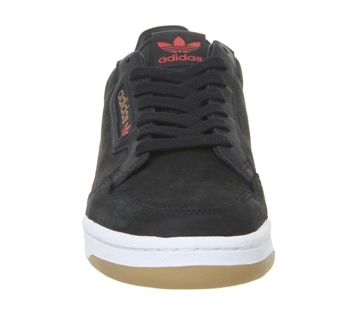 Details about Adidas Continental 80S Trainers Core Black Red Grey Gum Tfl  Trainers Shoes