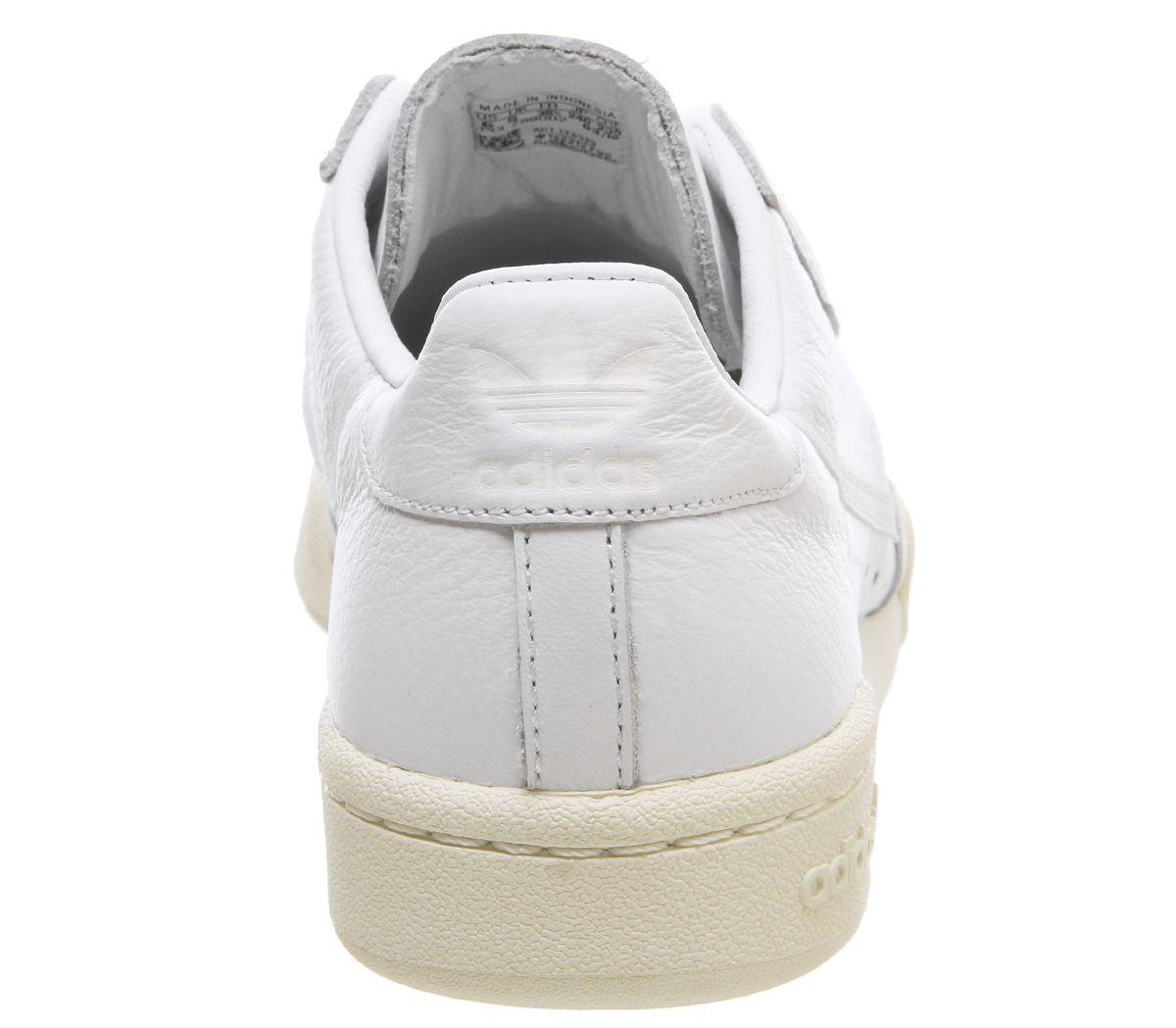 Details zu Adidas Continental 80S Turnschuhe Weiß über Weiß Turnschuhe