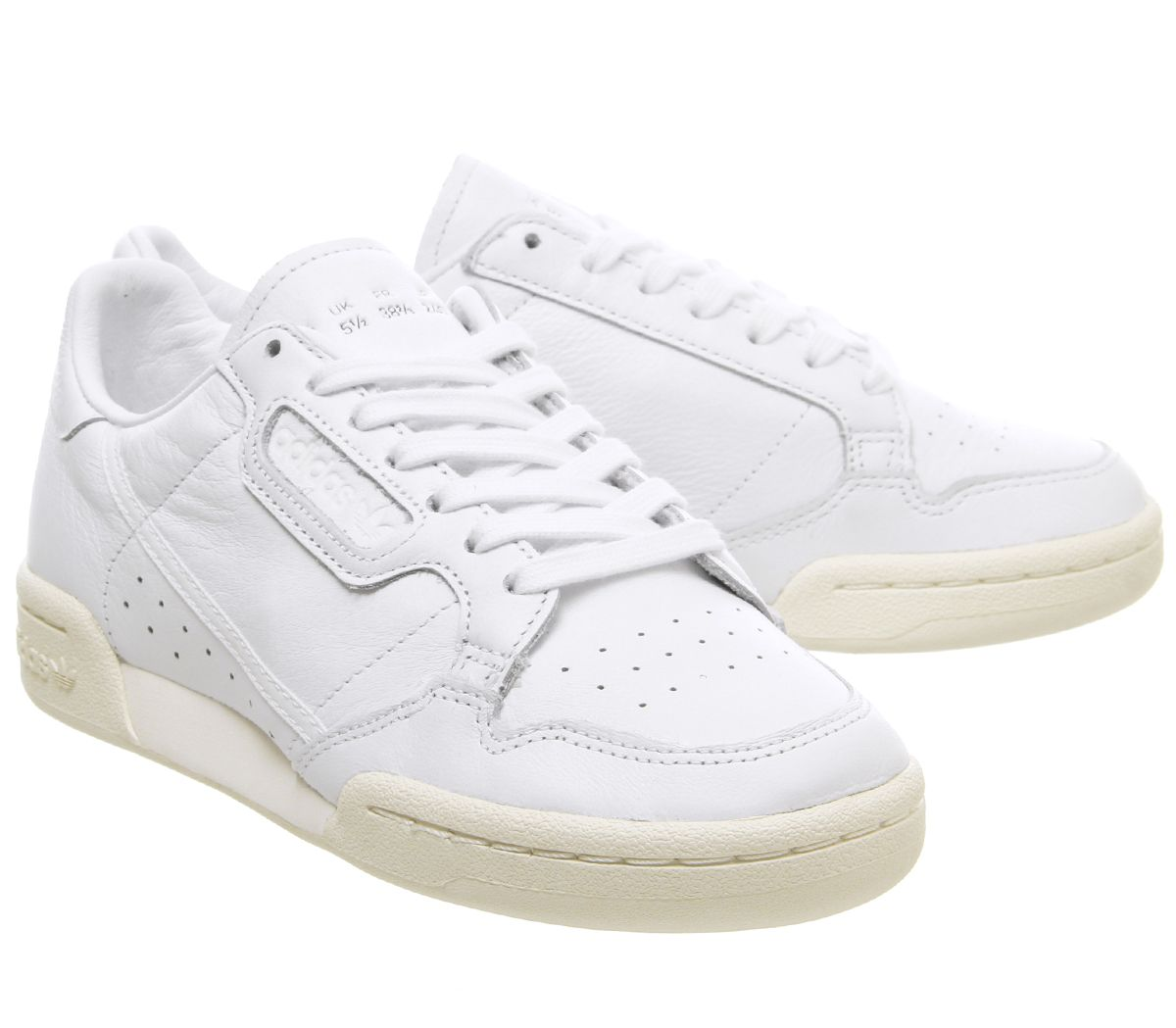 Details zu Adidas Continental 80S Trainers White Off White Trainers Shoes