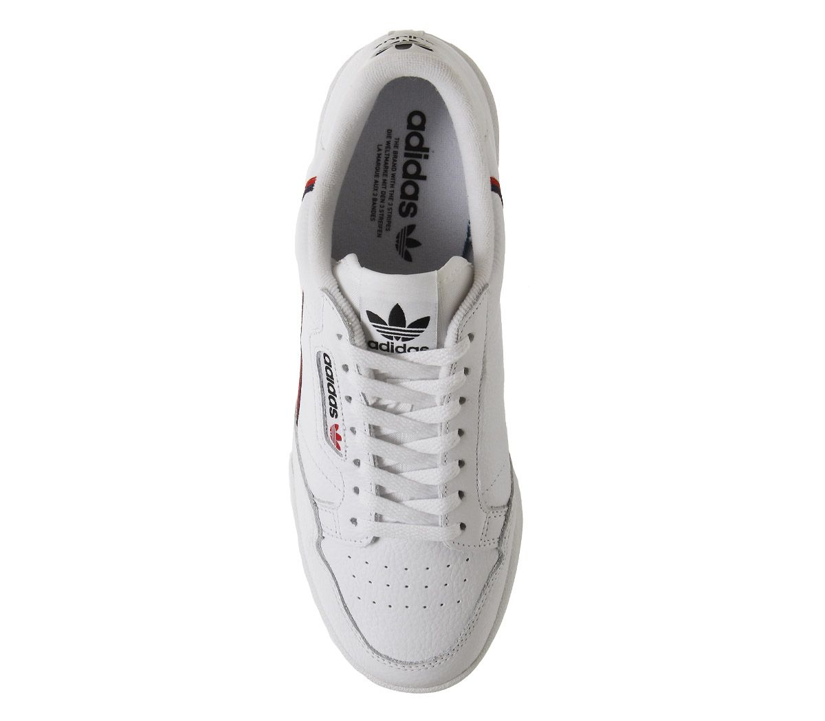 Adidas-80S-Continental-Trainers-White-White-Scarlet-Navy-Trainers-Shoes thumbnail 5