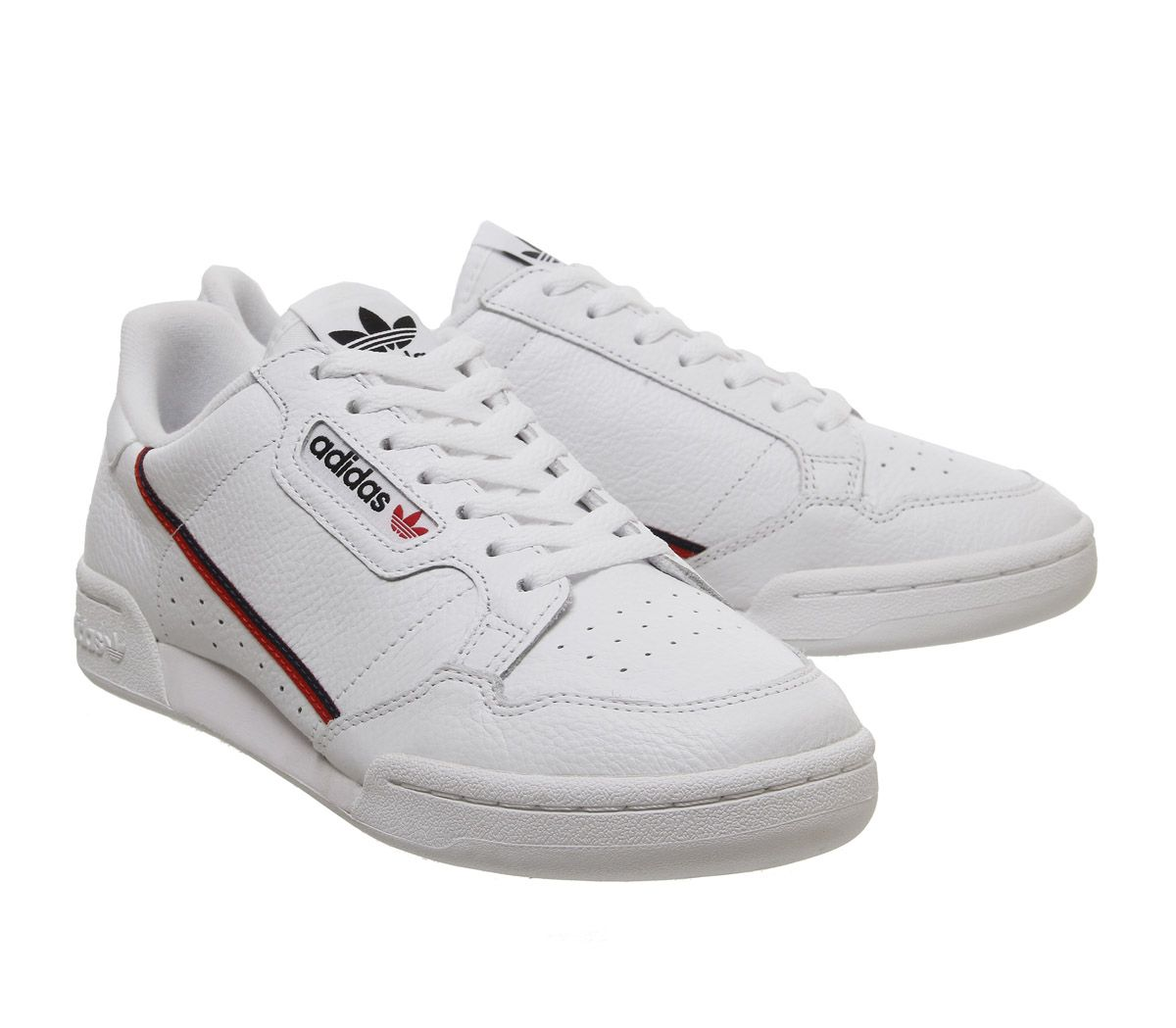 Adidas-80S-Continental-Trainers-White-White-Scarlet-Navy-Trainers-Shoes thumbnail 7