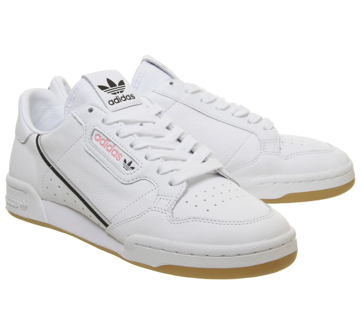 differently fb97f 62a2f Sentinel Adidas Continental 80 S White Grey Core Black Pink Gum Tfl  Trainers Shoes