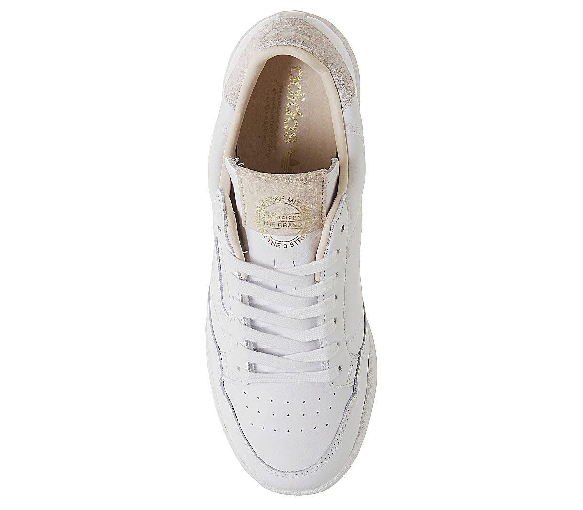 Adidas-Continental-80S-Scarpe-da-ginnastica-White-White-Scarpe-da-ginnastica-bianco-cristallo miniatura 5