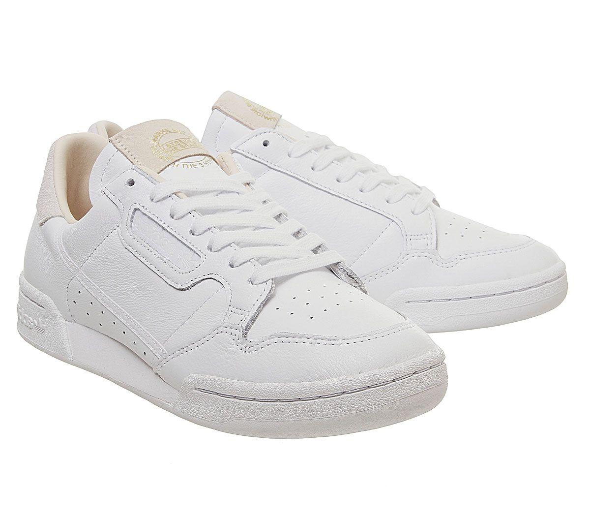 Adidas-Continental-80S-Scarpe-da-ginnastica-White-White-Scarpe-da-ginnastica-bianco-cristallo miniatura 7