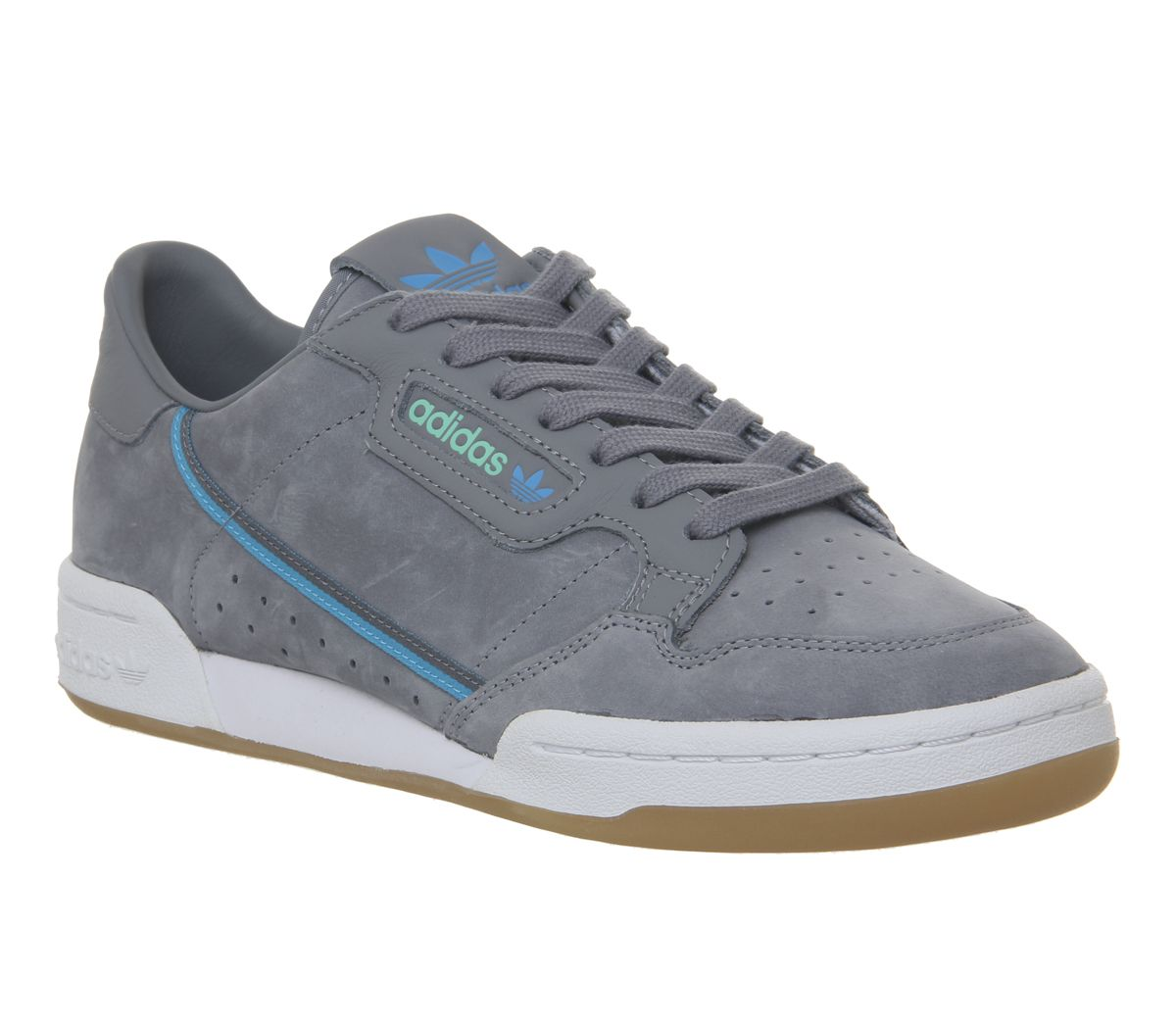 Details about Adidas Continental 80s Sneakers Grey Green Blue Rubber tfl-  show original title