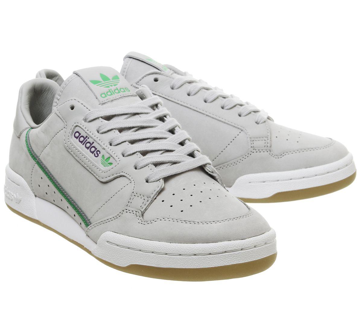 f441c86c01 SENTINEL Adidas continentale 80S formatori grigio verde viola Gum Tfl  formatori scarpe