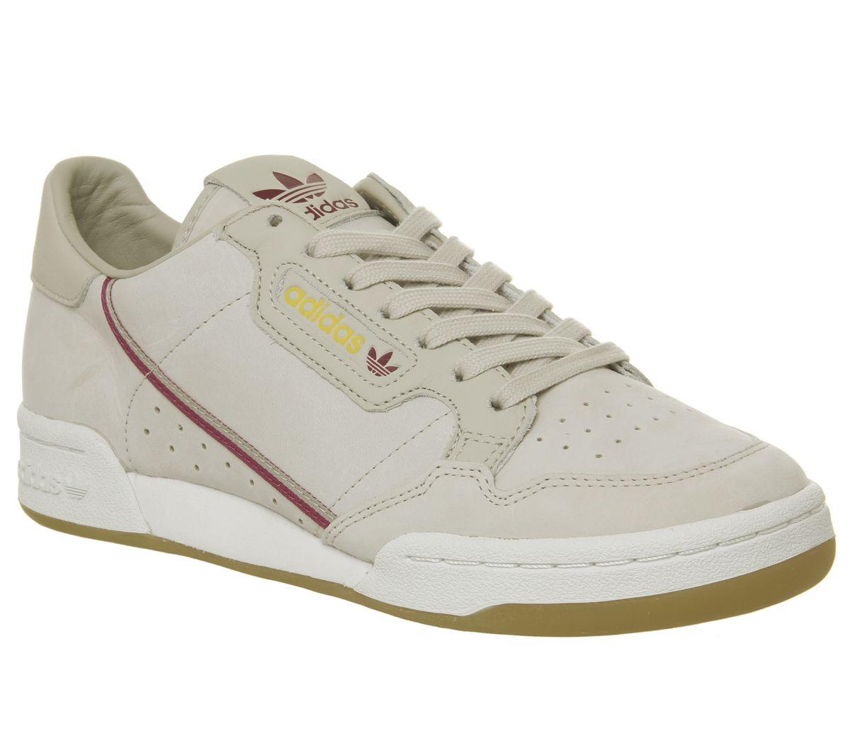 huge discount e0fab 0b999 SENTINELLE Adidas Continental des années 80 formateurs lumière moutarde  brune Bourgogne gomme Tfl formateurs S