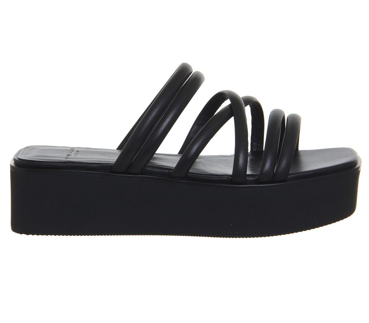 db3c1559f4c Sentinel Womens Vagabond Bonnie Wedges Black Sandals