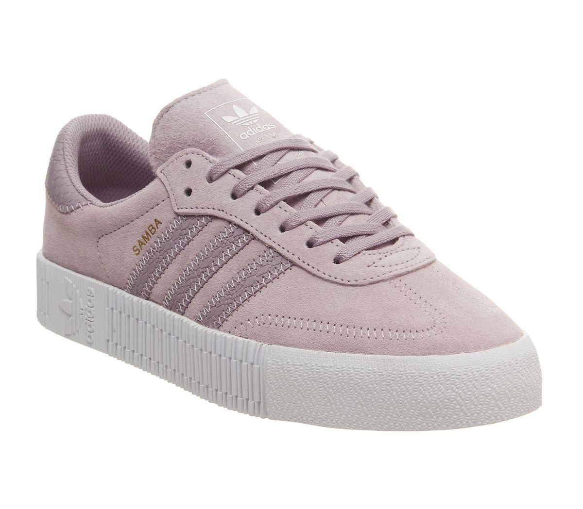 les plus récents meilleurs tissus classique Détails sur Short Femme Adidas Samba Rose Baskets douce Vision Blanc  Baskets Chaussures- afficher le titre d'origine