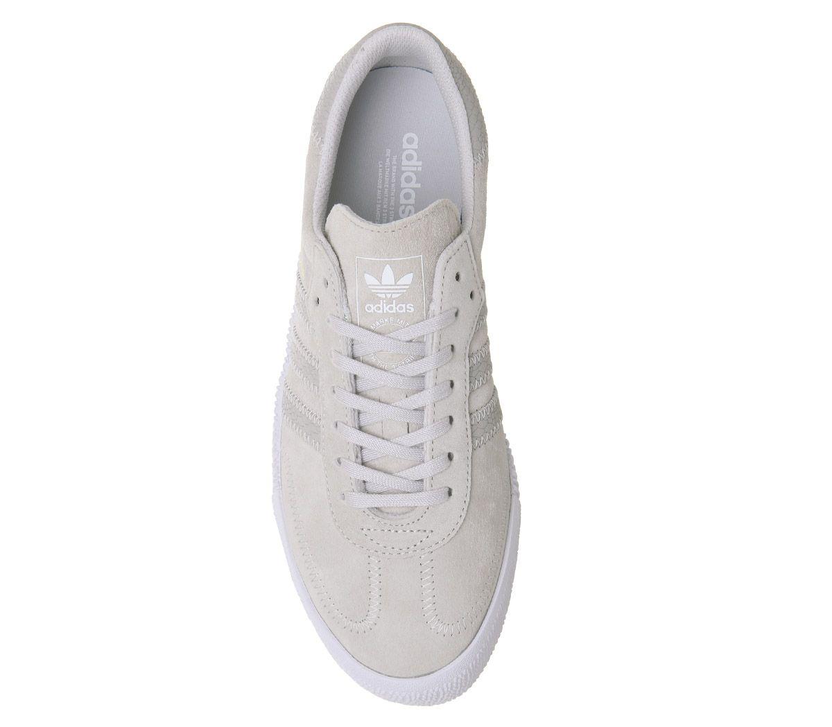 Details zu Damen adidas Samba Rose Turnschuhe Grau One Weiß Turnschuhe