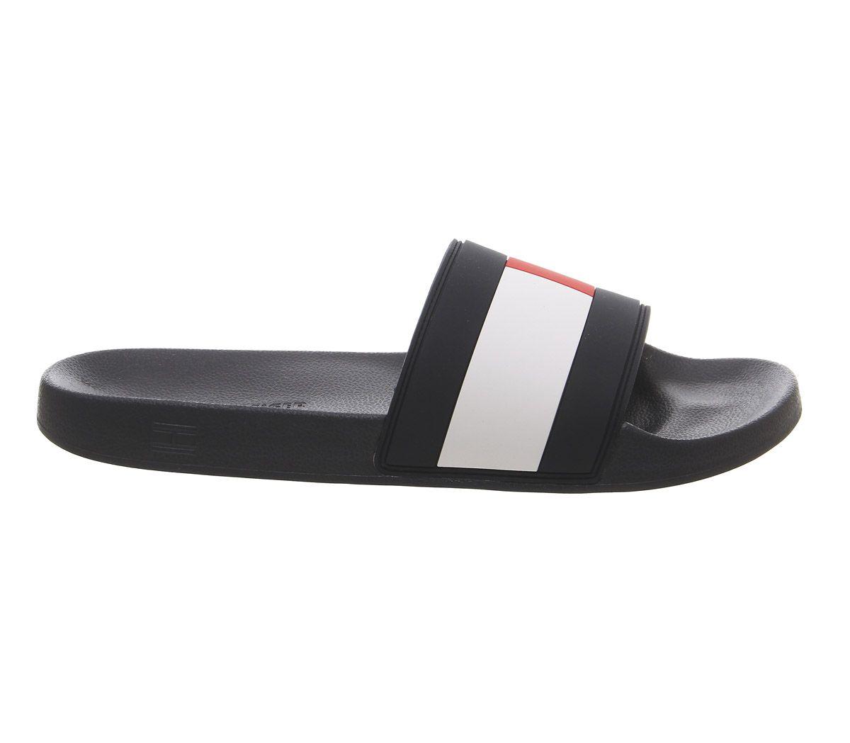 0db844e7 Sentinel Mens Tommy Hilfiger Flag Pool Slides Navy White Red Sandals