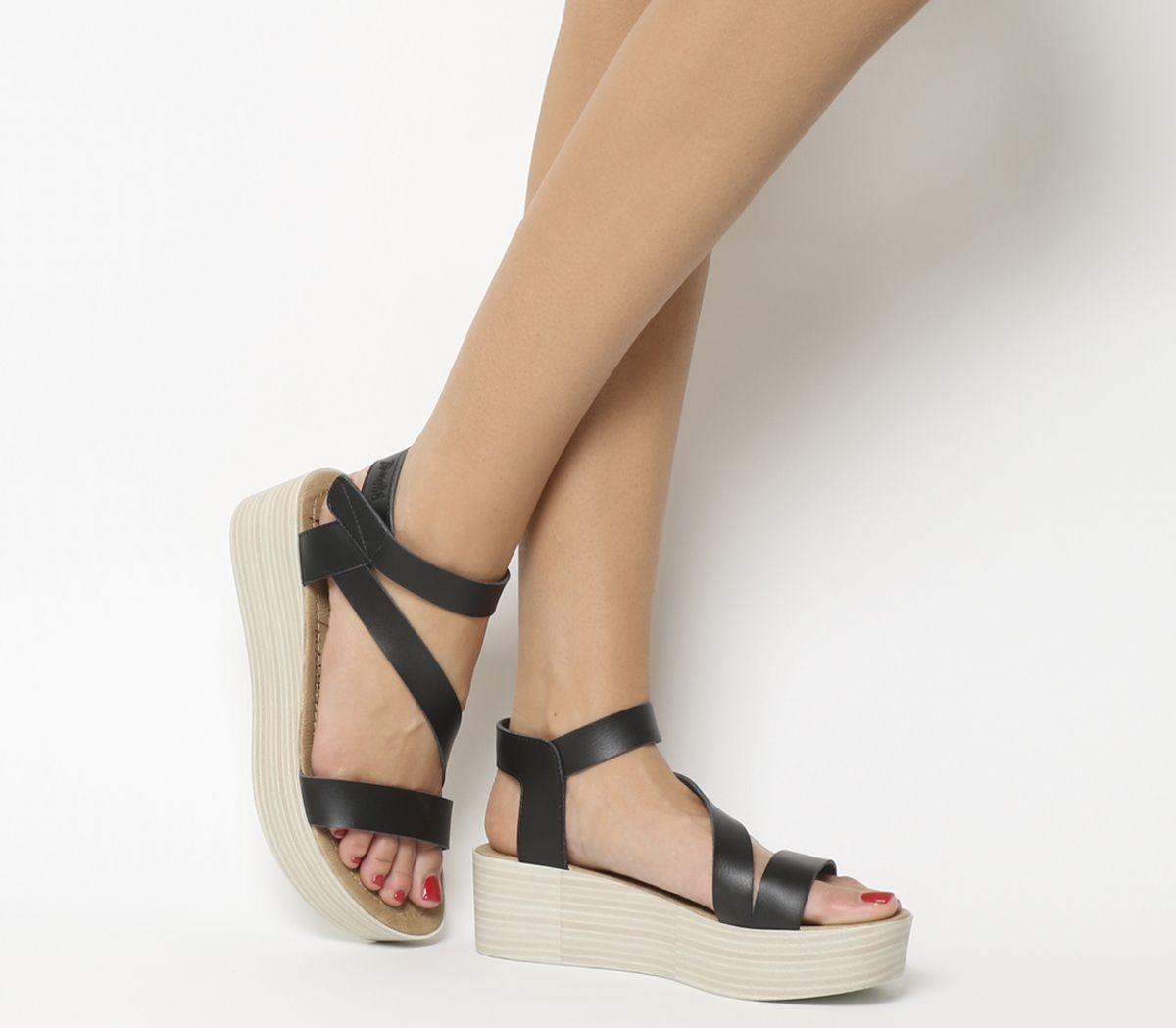 d1fd81a68ebfa Details about Womens Blowfish Lover Flatform Sandals Onyx Dyecut Heels