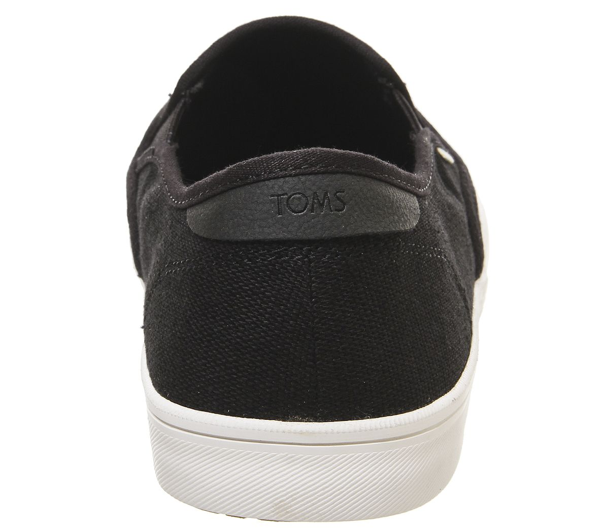 Da-Uomo-Toms-Baja-SLIP-ONS-Black-suola-bianca-scarpe-casual miniatura 4