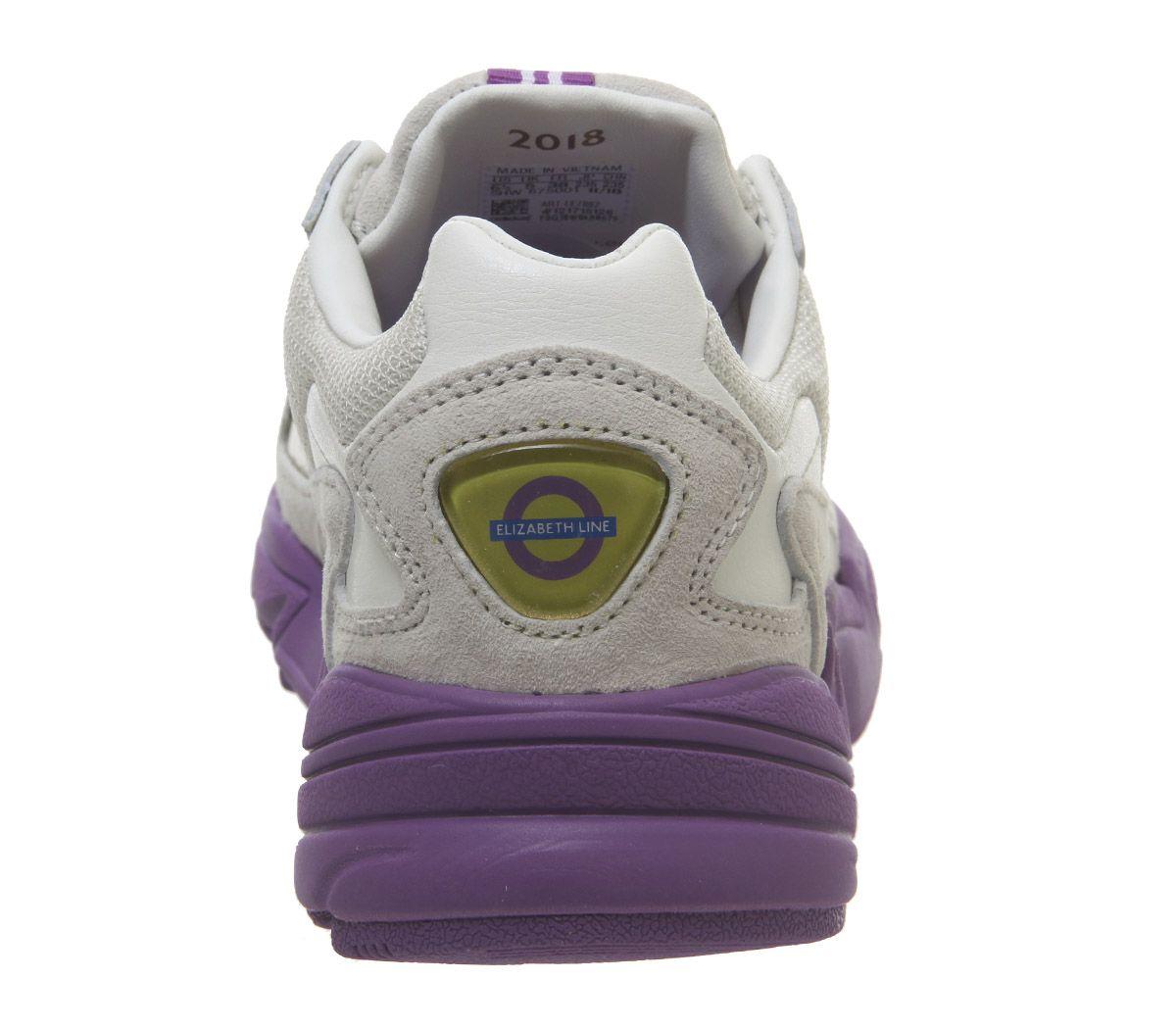 Détails sur Short Femme Adidas FALCON Baskets Blanc Violet Or Métallique Elizabeth TFL Baskets afficher le titre d'origine
