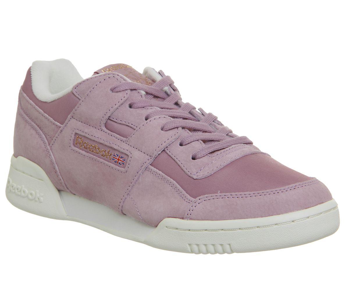 buy popular c7b64 193eb Donna Reebok Workout lo Plus Scarpe Sportive Infuso Lilla Gesso Rosa Dorato  Sh | eBay