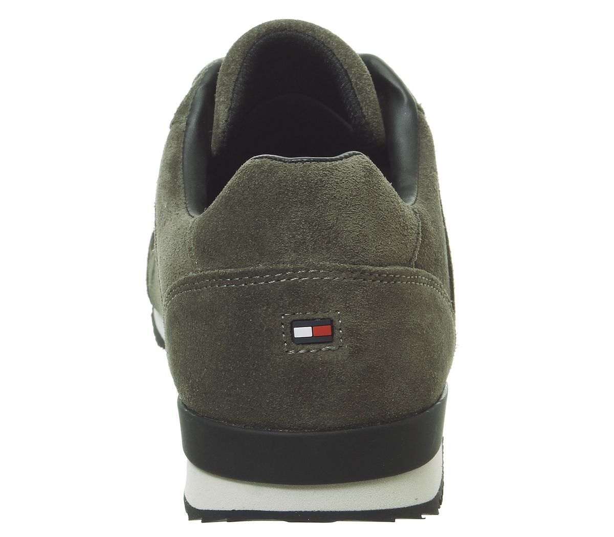 160e455d Mens Tommy Hilfiger Iconic Leather Trainers Khaki Casual Shoes | eBay