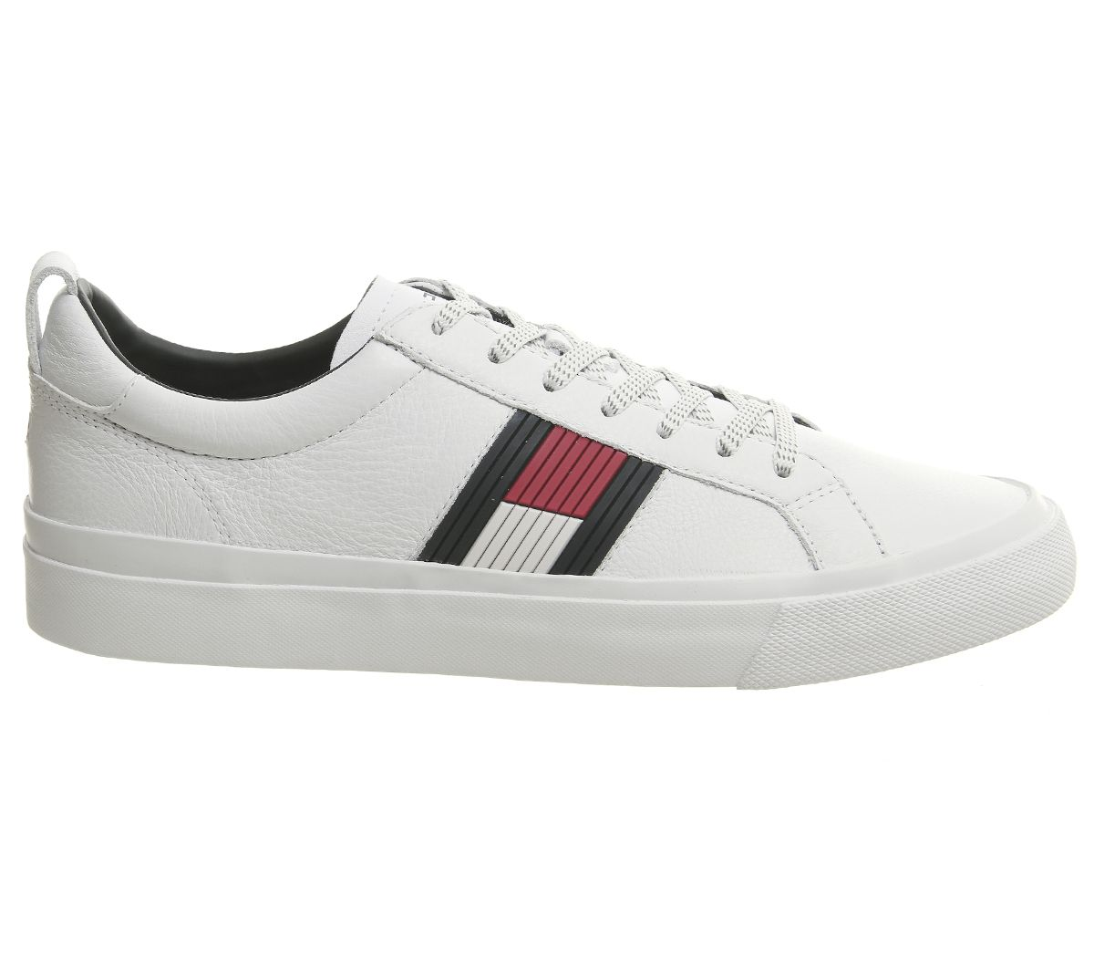 5687327ae Sentinel Mens Tommy Hilfiger Flag Detail Trainers White Casual Shoes