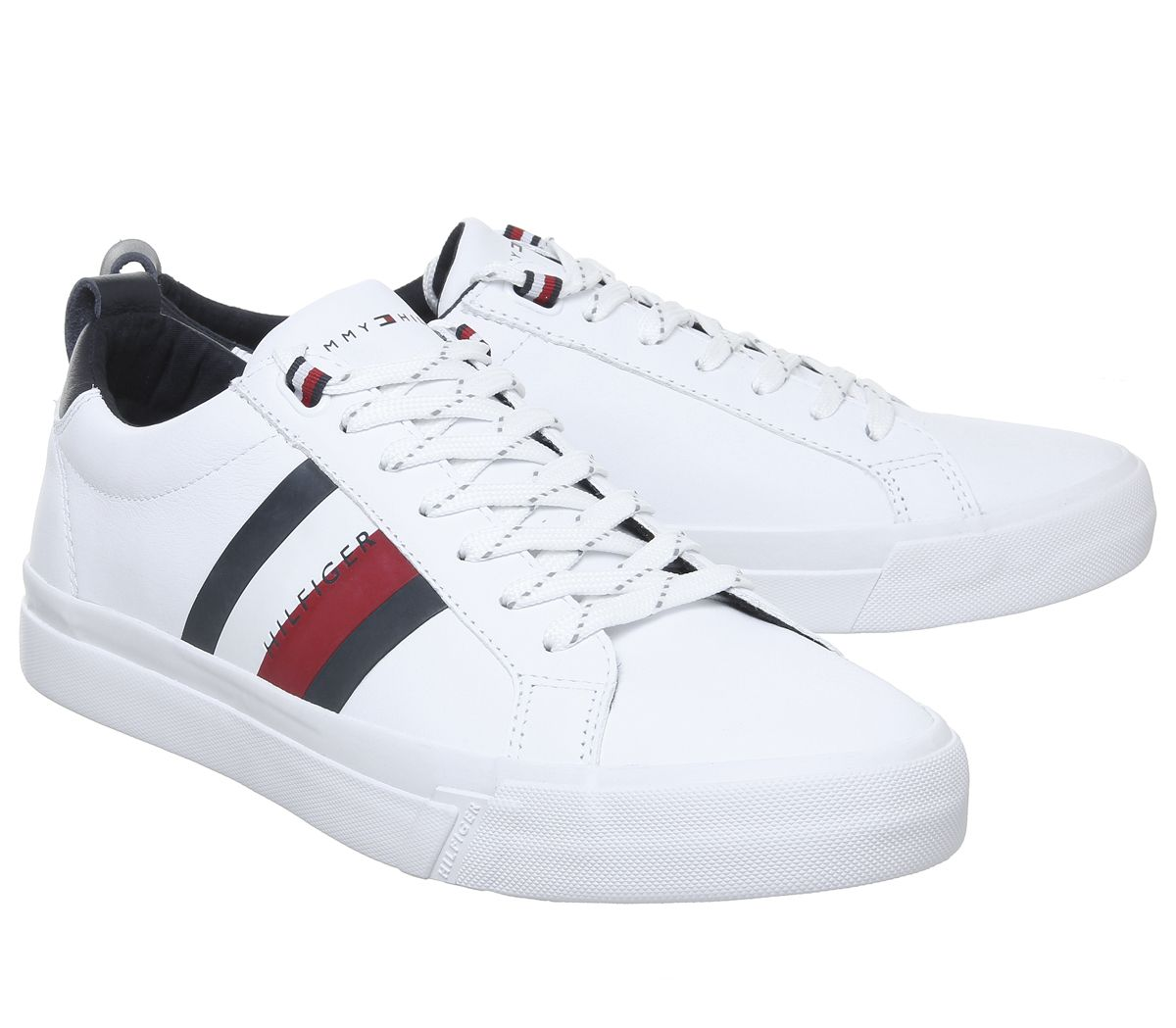 big discount quality products get cheap Mens Tommy Hilfiger Flag Detail Trainers White Casual Shoes | eBay