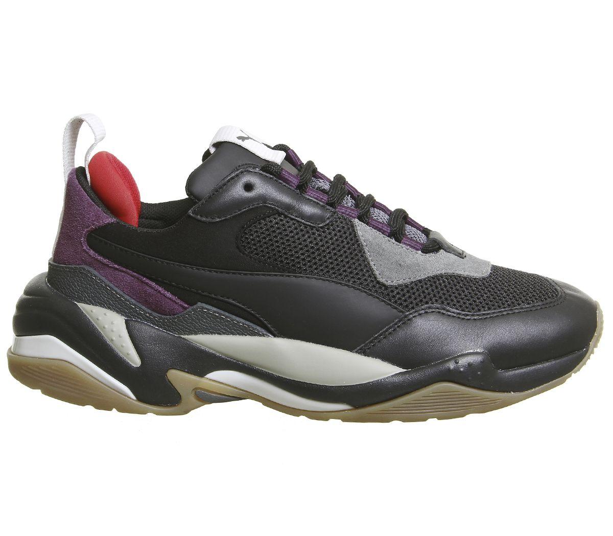 Mens-Puma-Thunder-Spectra-Trainers-Black-Grey-Purple-Gum-Trainers-Shoes thumbnail 4