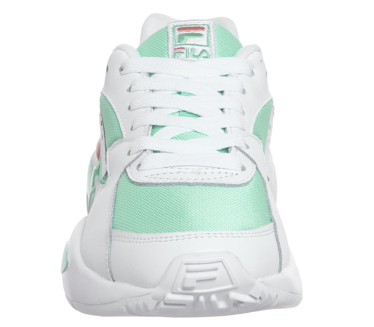 9637a98dbdce3 Womens Fila Mindblower Trainers White Cockatoo Desert Flower ...