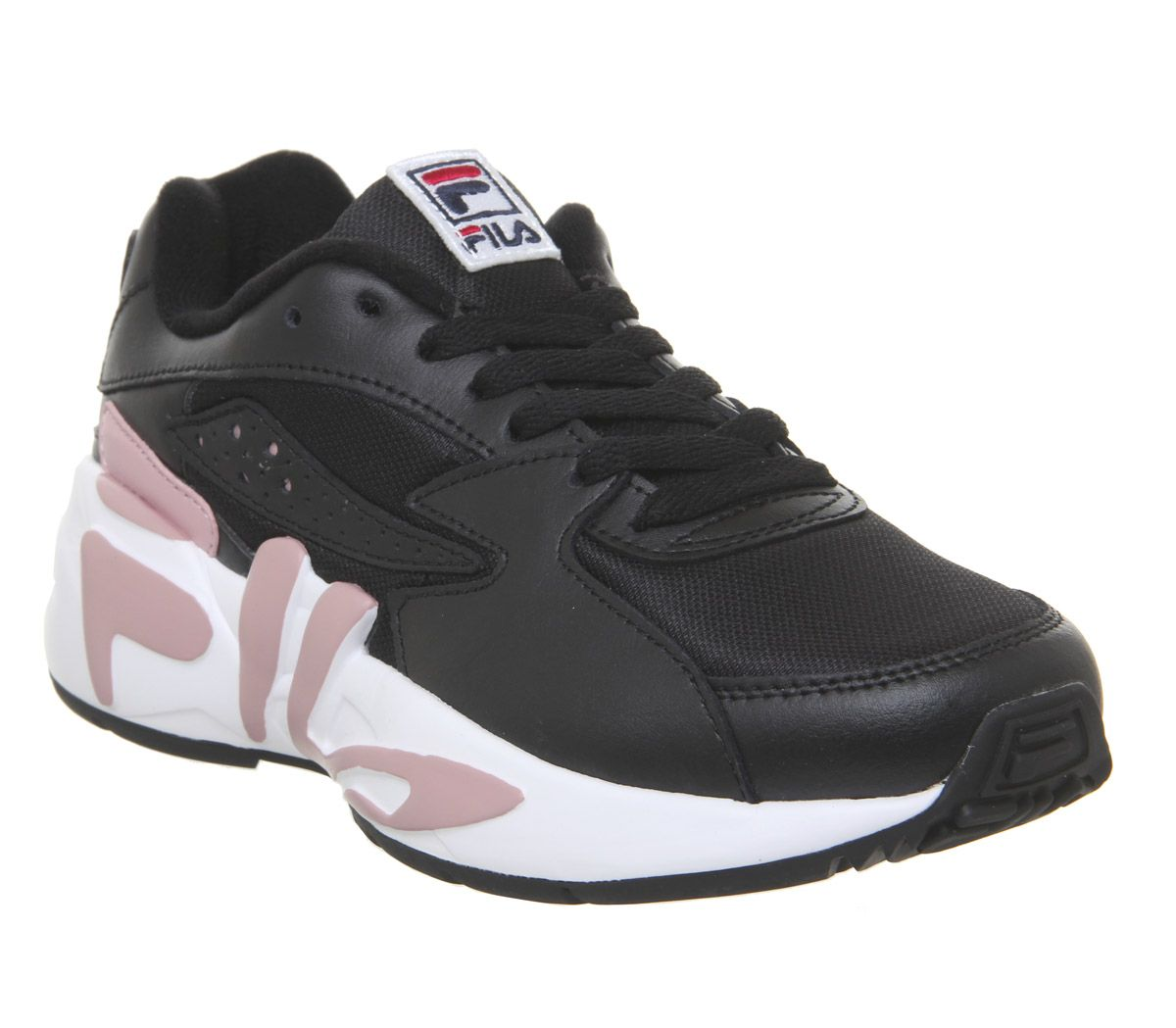 scarpe sportive 814c6 5c3e1 Dettagli su Donna Fila Mindblower Scarpe Sportive Bianco Rosa Ombra Bianche  Sportive Scarpe