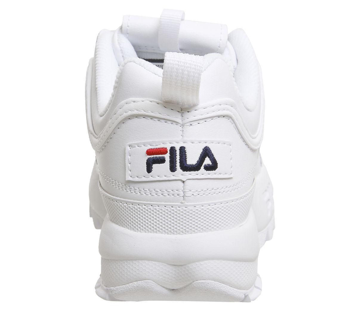 Donna-Fila-Disruptor-II-Scarpe-da-Ginnastica-Bianche-Scarpe-Sportive-in-Pelle miniatura 8