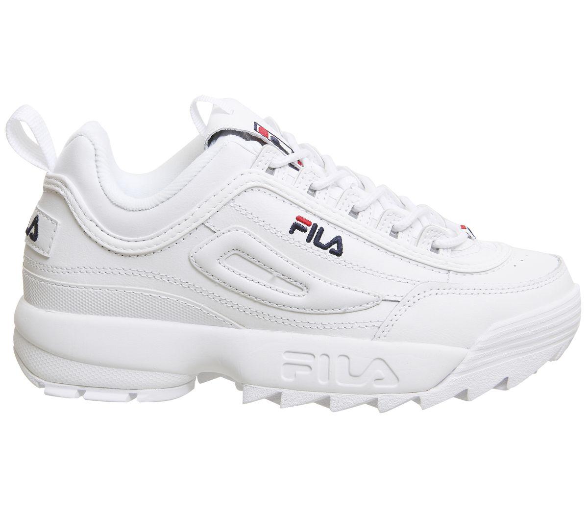 design di qualità 85b78 c1681 fila scarpe disruptor 2 bianche