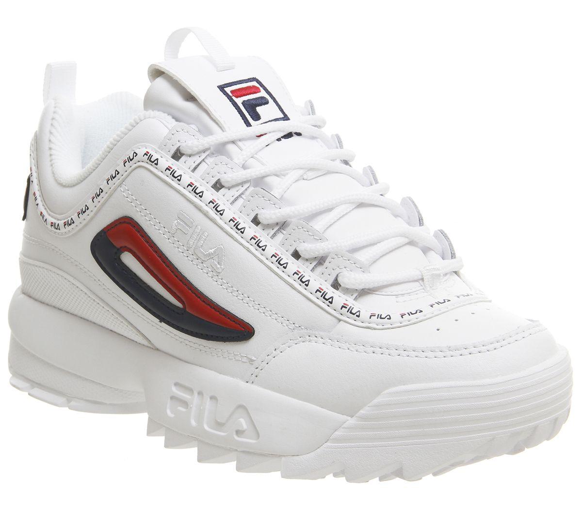 6f756bc6743 CENTINELA Para mujer Fila Disruptor Ii entrenadores blanca repetir zapatos  de formadores