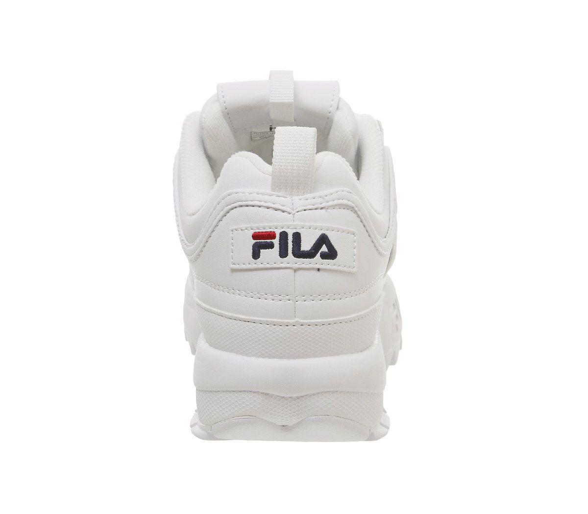 Donna-Fila-Disruptor-II-Scarpe-Sportive-pelle-Bianca-G-Scarpe-da-Ginnastica miniatura 14