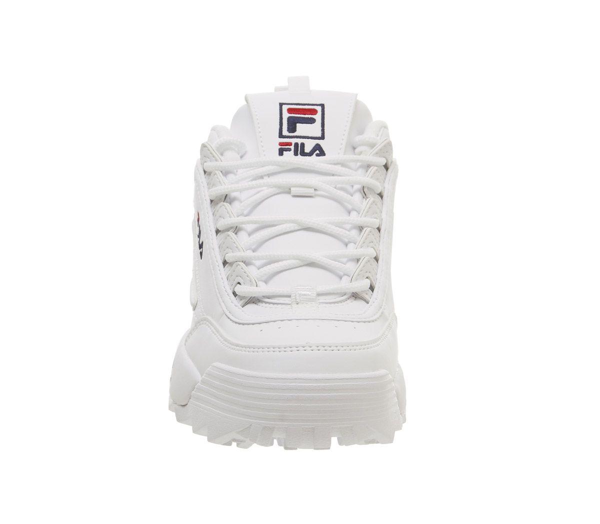 181ad0b0c5d5 Donna Fila Disruptor II Scarpe Bianco pelle G Scarpe | eBay