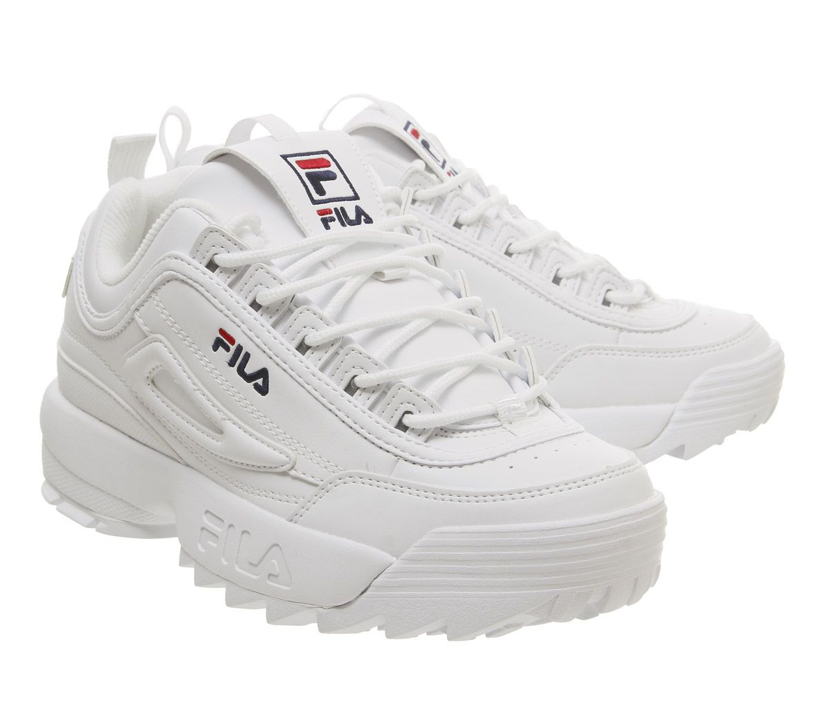 fdb59f87695 SENTINELLE Chaussures femme Fila Disruptor Ii formateurs en cuir blanc G  formateurs