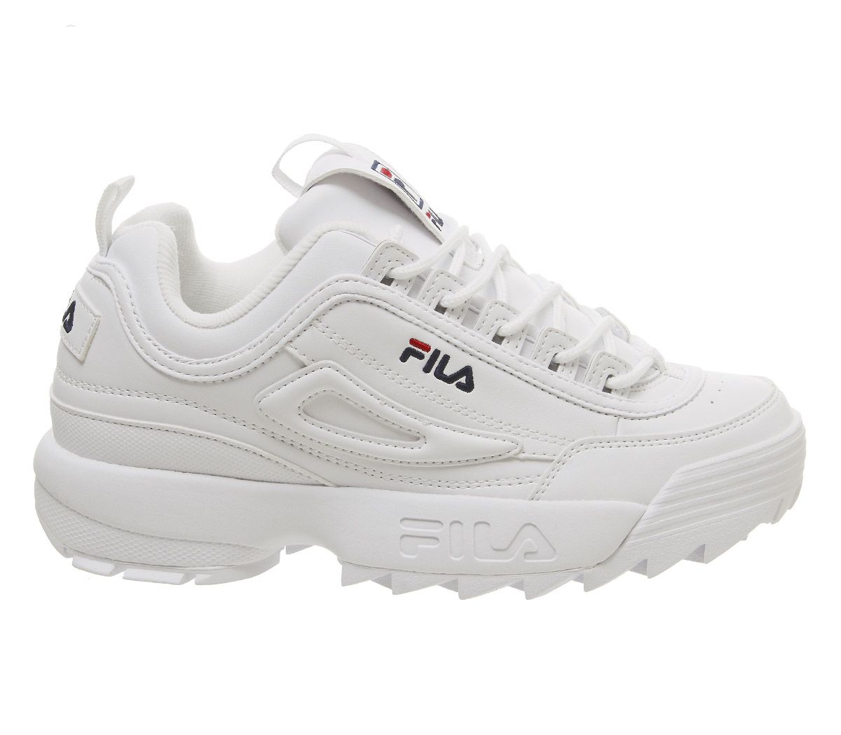ff562d94190089 Sentinel Womens Fila Disruptor Ii Trainers White Leather G Trainers Shoes