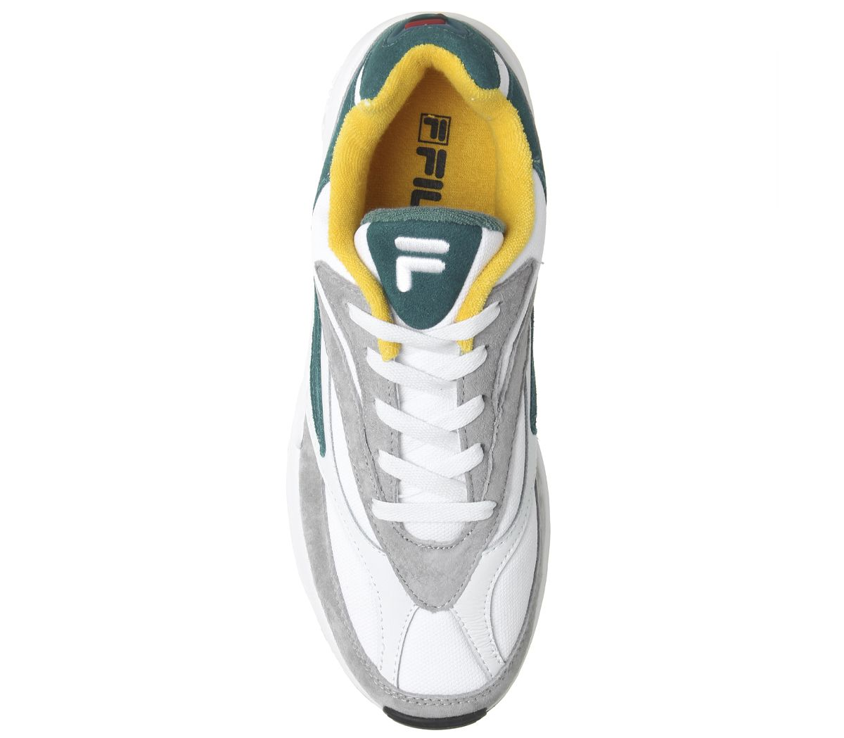 Fila-Venom-Trainers-Gray-Violet-Shaded-Spruce-Inca-Gold-Baskets-Chaussures miniature 10