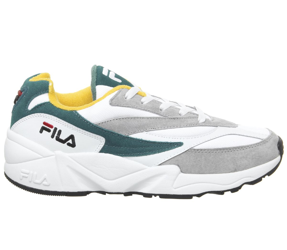 Fila-Venom-Trainers-Gray-Violet-Shaded-Spruce-Inca-Gold-Baskets-Chaussures miniature 4