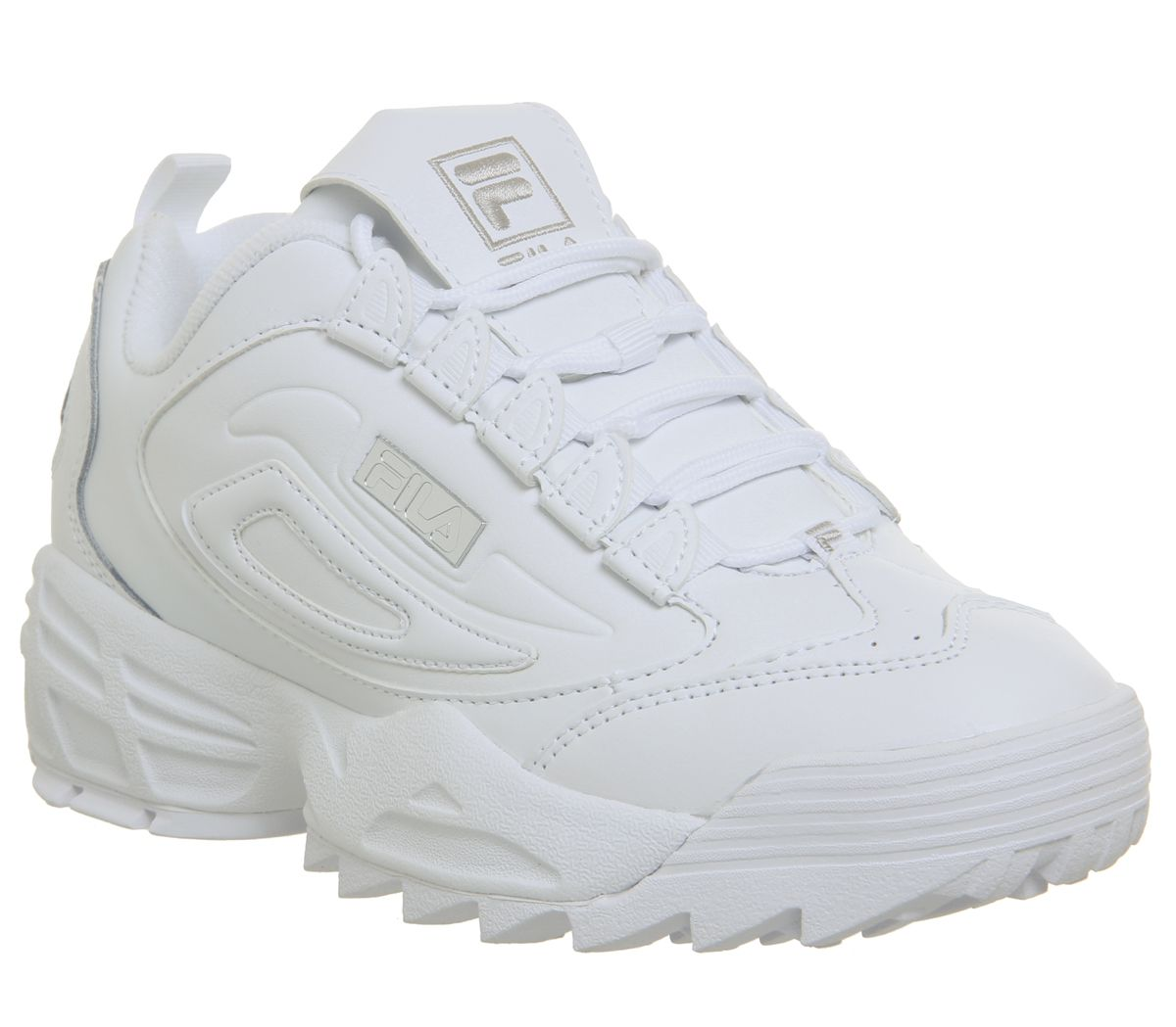 Details about Womens FILA Disrupter 3 Trainers White Sneakers- show  original title