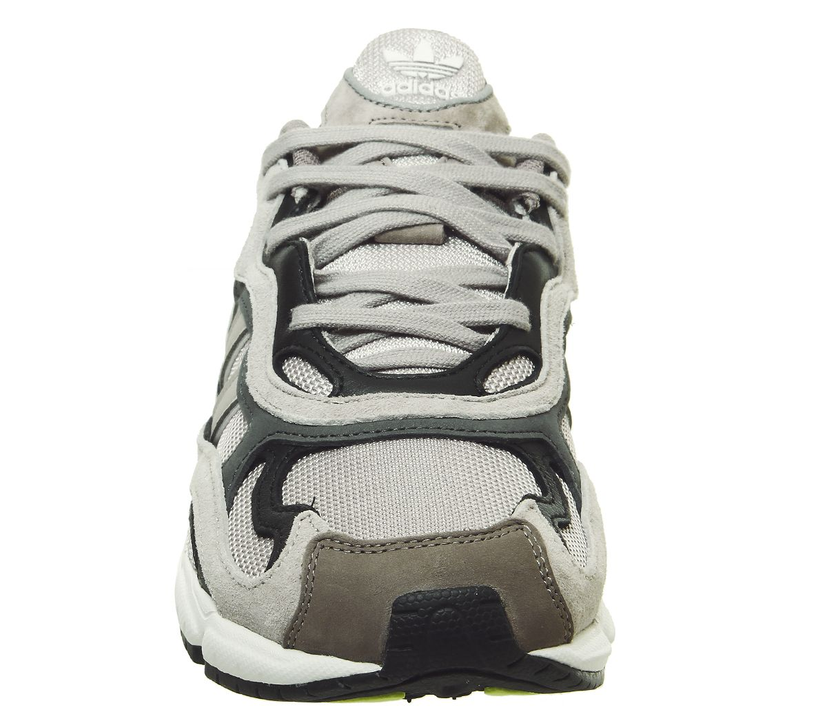 Adidas-Temper-Run-Trainers-Light-Brown-Grey-Core-Black-Trainers-Shoes thumbnail 3