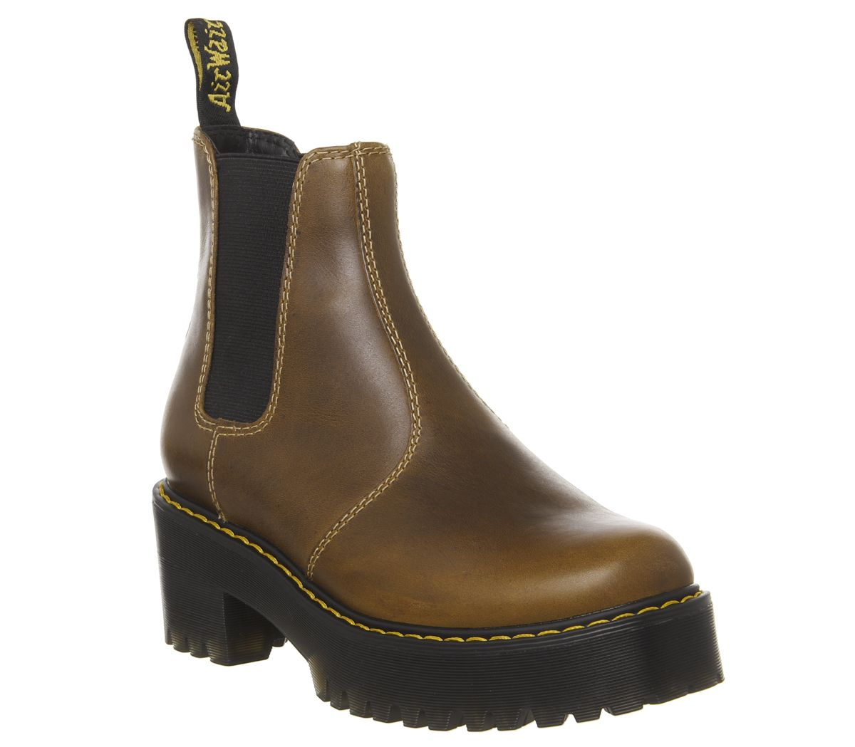 62805936811 Sentinel Womens Dr. Martens Rometty Chelsea Boots Butterscotch Orleans Boots