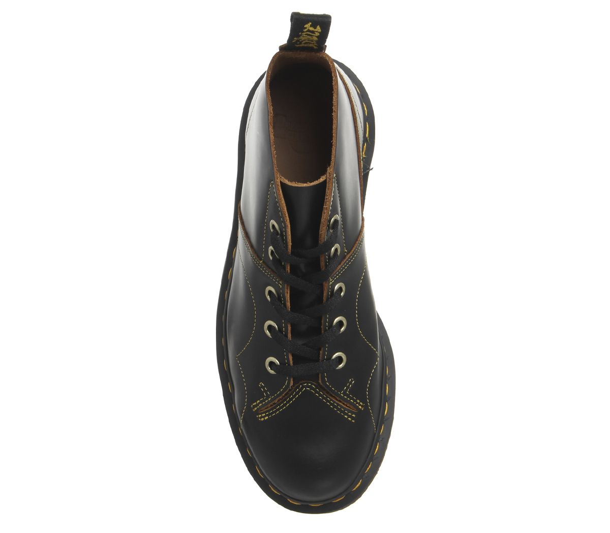 877061958b20c Womens Dr. Martens Church 5 Eye Monkey Boots Black Vintage Smooth ...