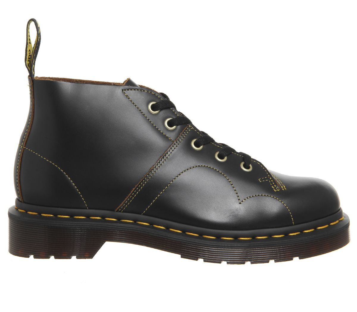 4e1edade67105 Sentinel Womens Dr. Martens Church 5 Eye Monkey Boots Black Vintage Smooth  Boots