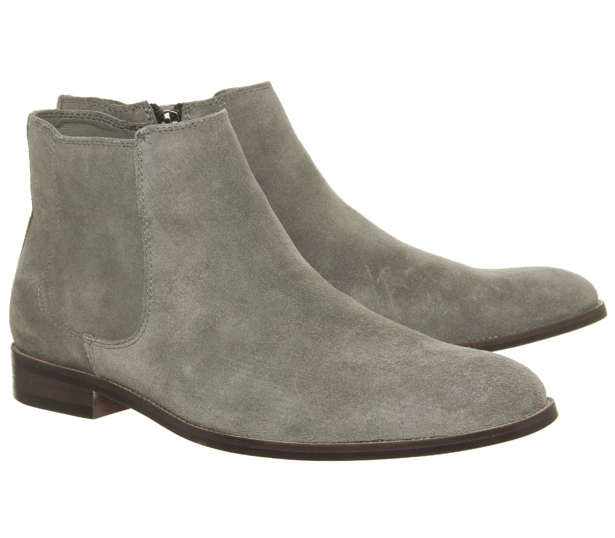 Sentinel Mens Ask The Missus Inlet Chelsea Boots Grey Suede