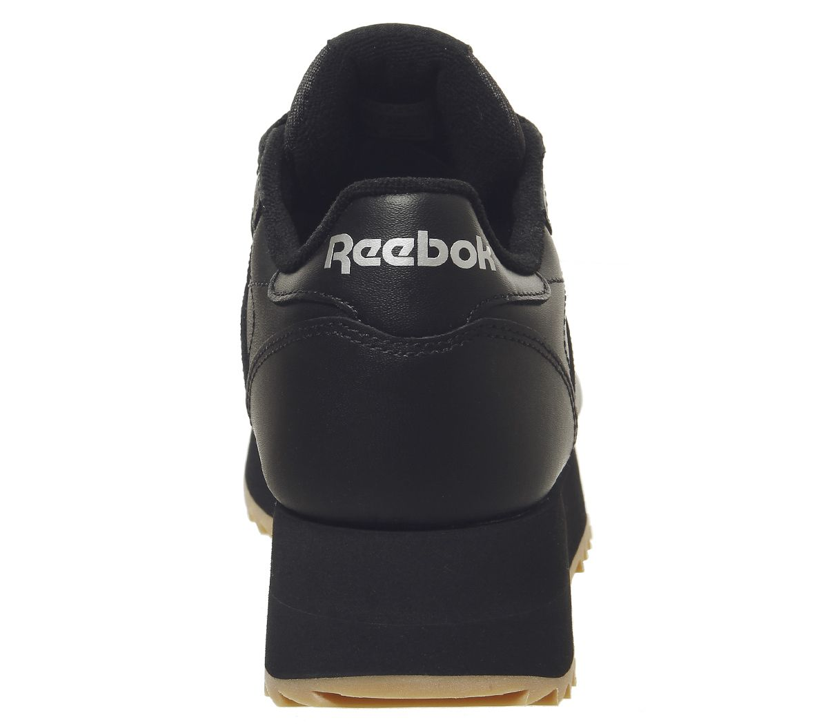 21cc66bed7624 Sentinel Womens Reebok Classic Leather Double Trainers Black Gum Silver  Metallic Trainers