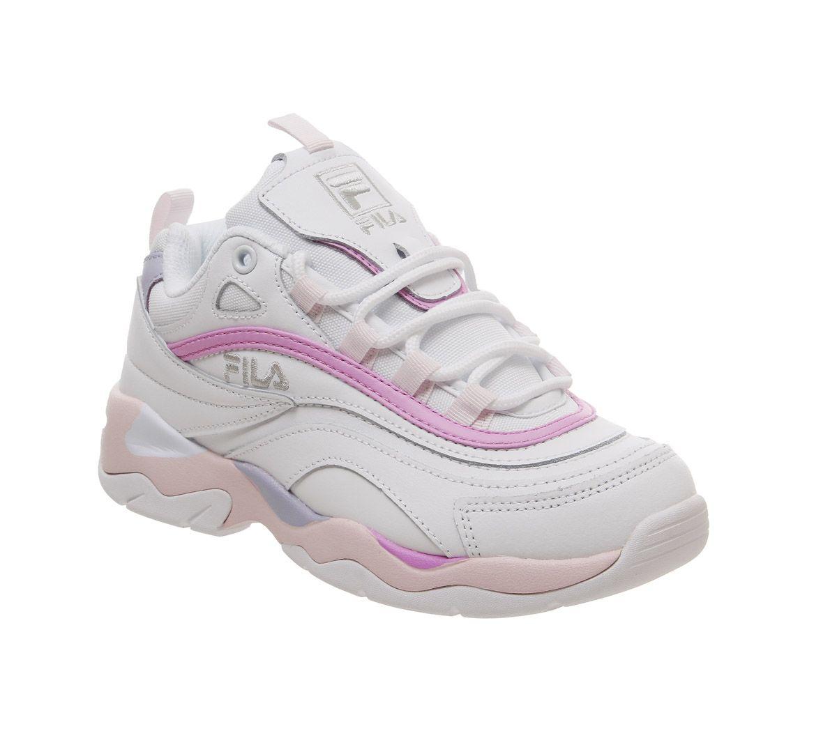 3201cb9d Détails sur Débardeur FILA FILA Ray Baskets Blanc Céleste Rose Violet  Baskets Chaussures- afficher le titre d'origine