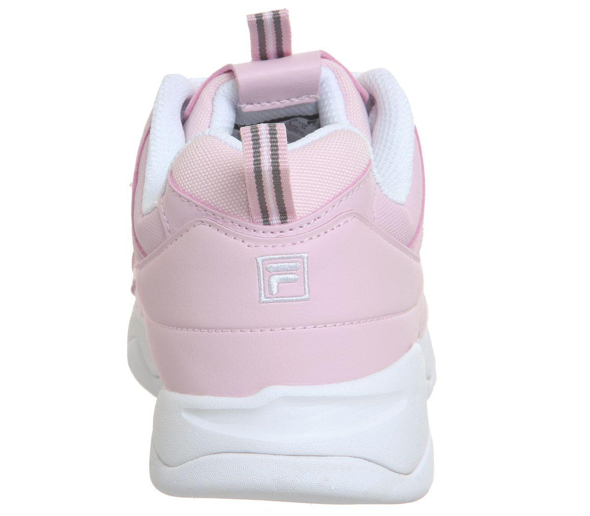 Detalles de Zapatillas para mujer fila Fila Ray Tiza Rosa Blanco Tiza Rosa  Zapatillas Zapatos- ver título original
