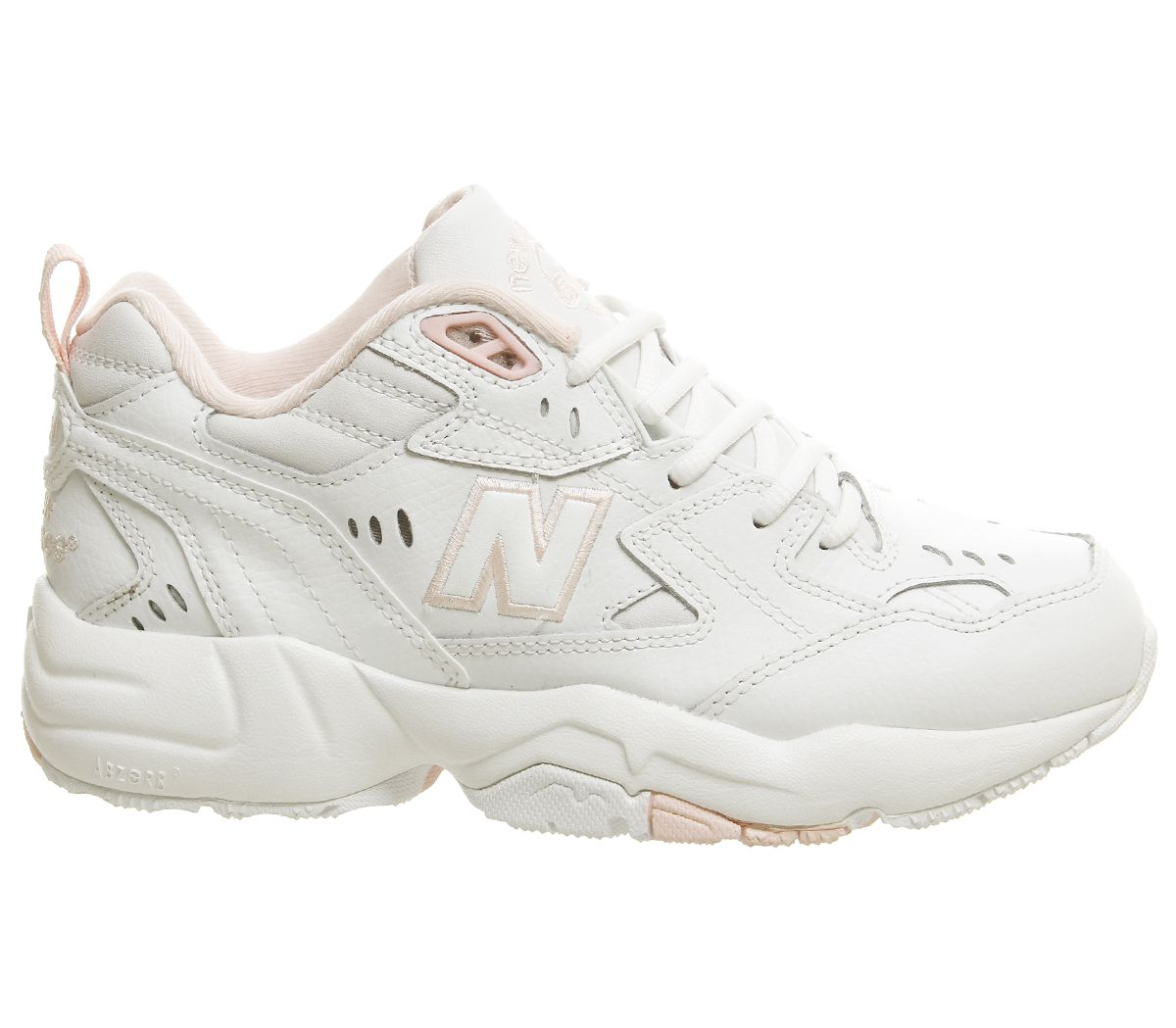 a8f717965130c Womens New Balance 608 Trainers Cream Pink Trainers Shoes