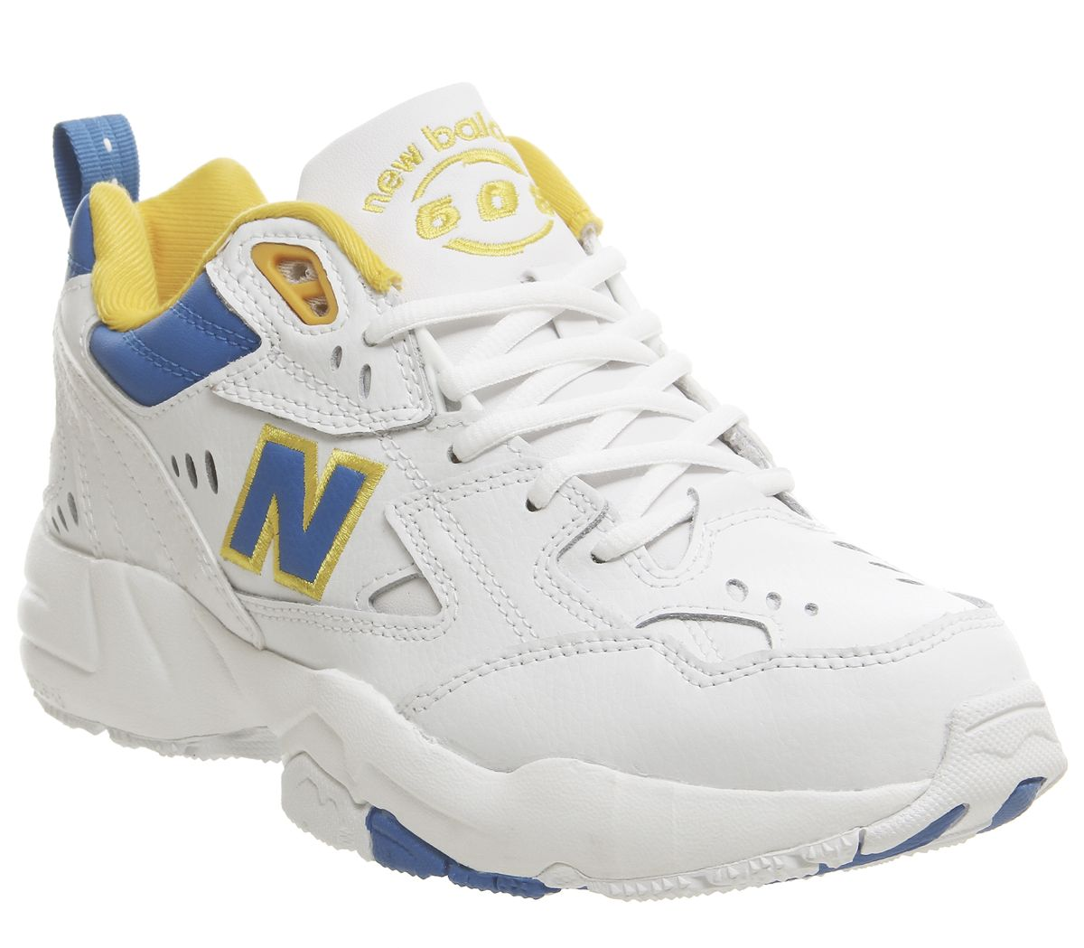 new concept 833cf a00a5 Sentinel Womens New Balance 608 Trainers White Blue Yellow Trainers Shoes.  Sentinel Thumbnail 2