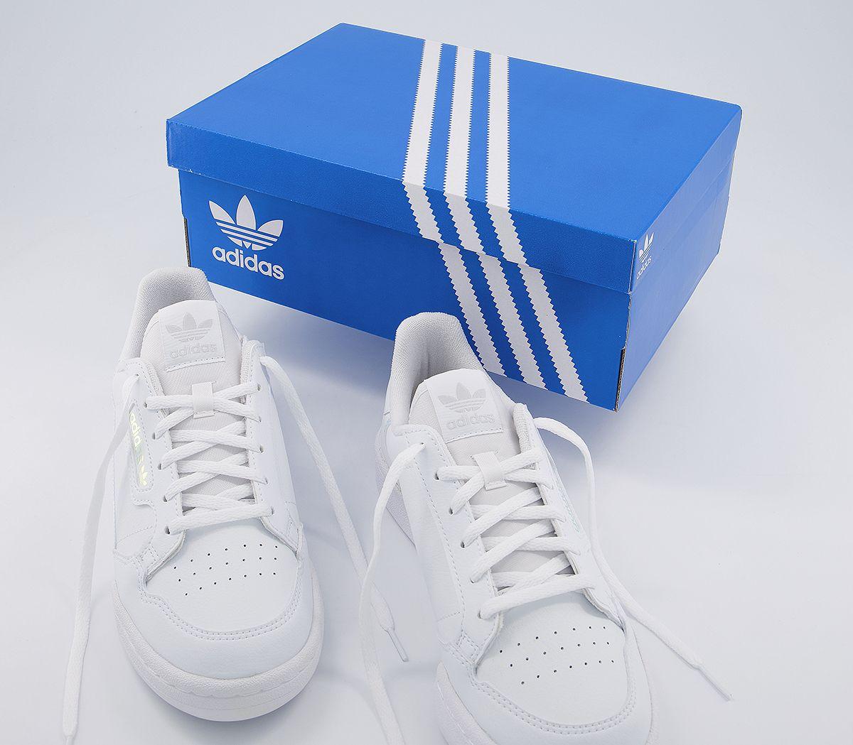 Bambini-Adidas-Continental-anni-039-80-JNR-Scarpe-da-ginnastica-bianco-iridescente-Kids miniatura 16
