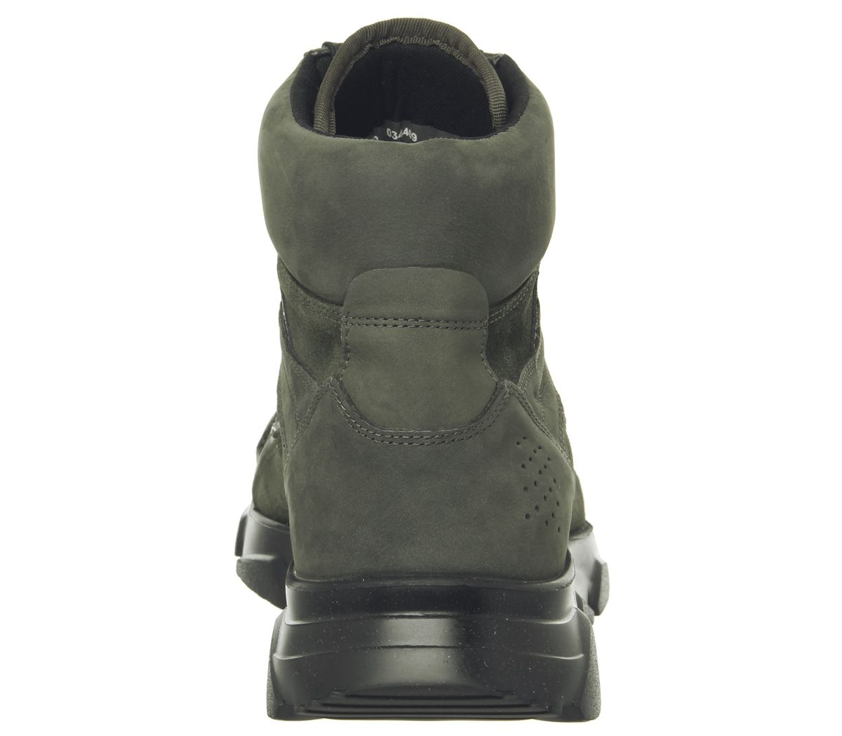 Hommes-Ask-The-Missus-Lignee-Baskets-Hi-Kaki-Daim-Decontracte-Chaussures miniature 8